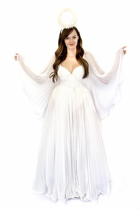 Pliszírozott angyal jelmez