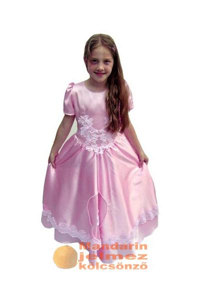 Rózsaszín klasszikus királylány jelmez
