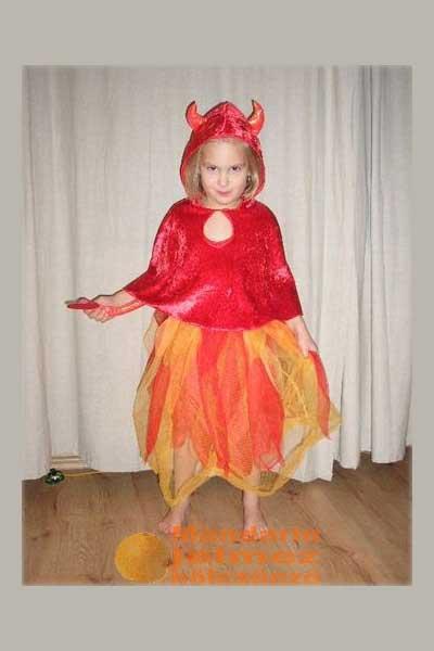 Mandarin jelmezkölcsönző Ördöglány gyerek jelmez