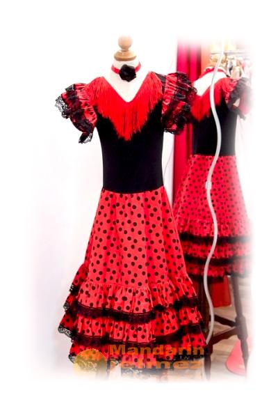 Spanyol táncosnő jelmez (pöttyös)