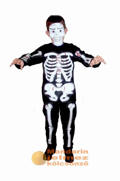 Csontváz jelmez overál