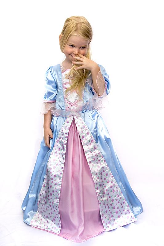 Barbie princess blue jelmez