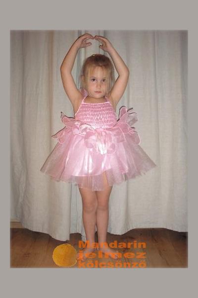 Rózsaszín mini balerina jelmez