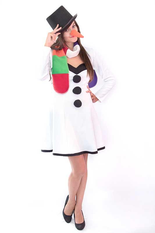 Mandarin jelmezkölcsönző Hóember lány